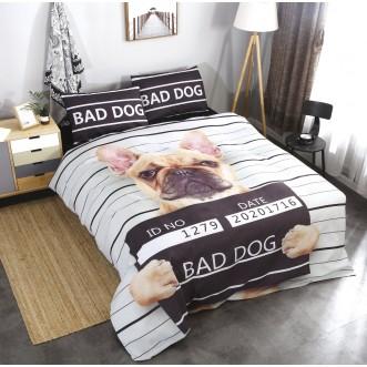 Прикольное постельное белье сатин CFA001 2 спальное 180х220 СИТРЕЙД