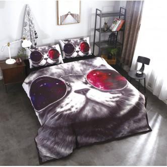 Прикольное постельное белье сатин CFA002 2 спальное 180х220 СИТРЕЙД