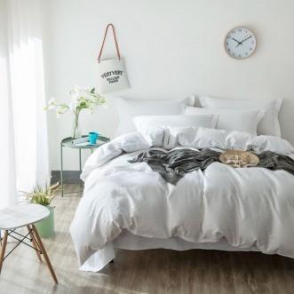 Однотонное постельное белье страйп сатин CR001 2 спальное 180х220 СИТРЕЙД
