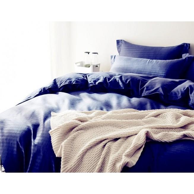 Белье постельное однотонное белье страйп сатин  CR003 2 спальное 180х220 СИТРЕЙД