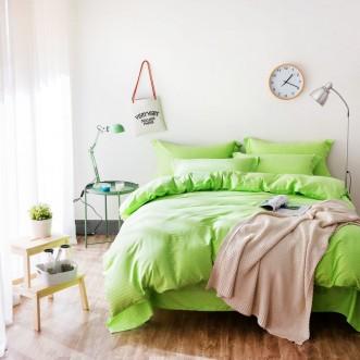 Однотонное постельное белье страйп сатин простынь на резинкеCFR002 2 спальное 180х220 СИТРЕЙД