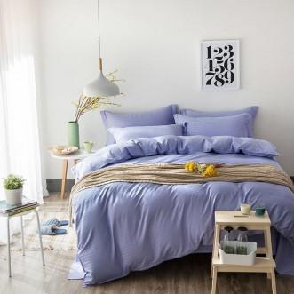 Однотонное постельное белье страйп сатин простынь на резинкеCFR005 2 спальное 180х220 СИТРЕЙД