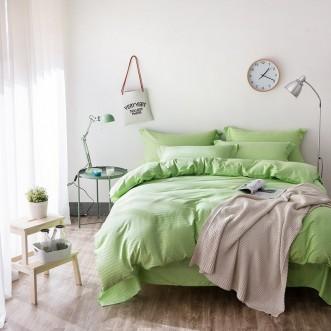 Однотонное постельное белье страйп сатин простынь на резинкеCFR009 2 спальное 180х220 СИТРЕЙД