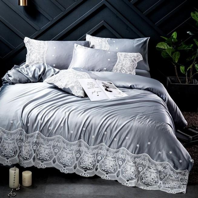 Белье постельное Люкс сатин-шелк DH005 евро 200х220 СИТРЕЙД