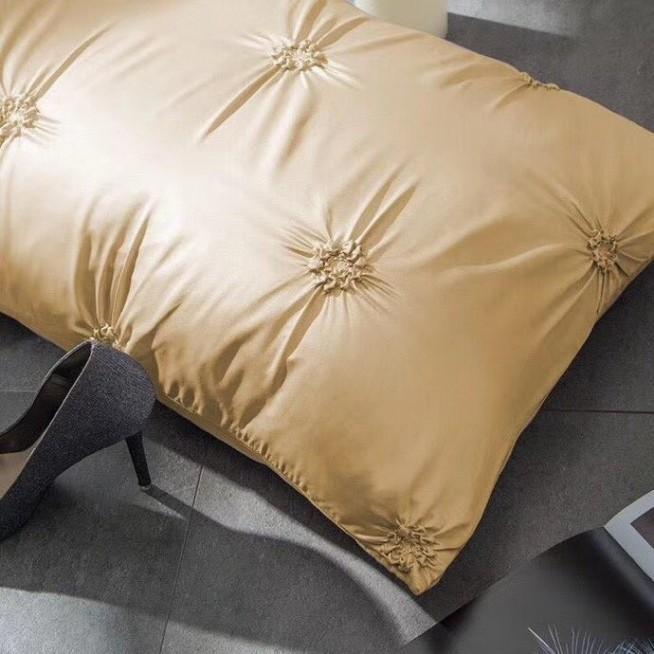 Сатин-шелк белье постельное Люкс DH008 евро 200х220 СИТРЕЙД