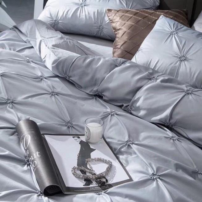 Сатин-шелк белье постельное Люкс DH009 евро 200х220 СИТРЕЙД