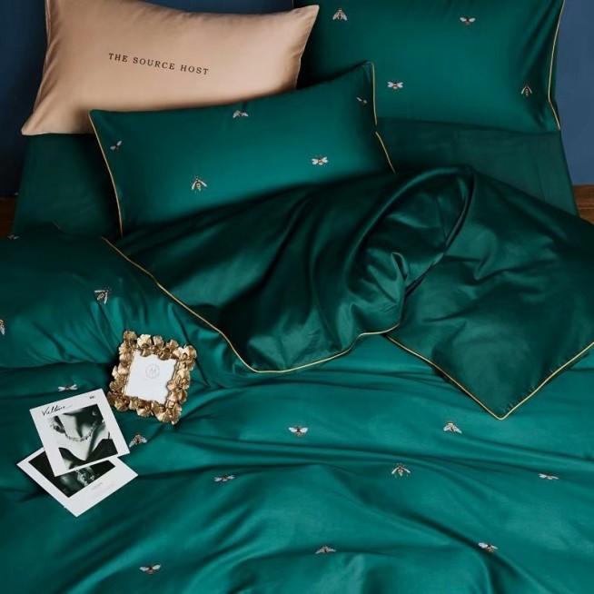 Мако-сатин белье постельное Премиум CPA010 евро 200х220 СИТРЕЙД