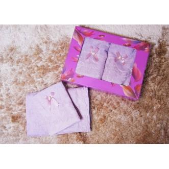 Набор банных полотенец в подарочной упаковке PSH04 50х90 и 70х140 СИТРЕЙД
