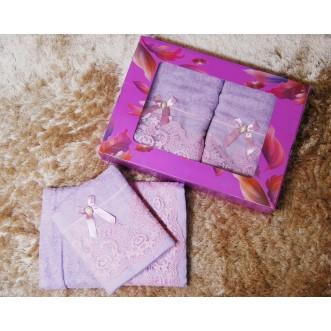 Набор банных полотенец в подарочной упаковке PSH15 50х90 и 70х140 СИТРЕЙД