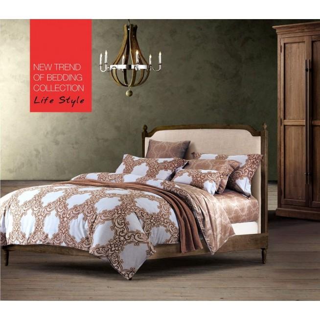 Постельное белье сатин TS01-672 1/5 спальное Tango