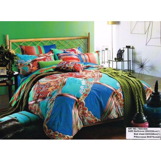 Постельное белье сатин TS02-63A 2 спальное Tango