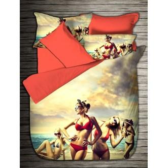 Постельное белье Бамбук 3Д1331-08 евро Virginia Secret