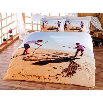 Постельное белье Бамбук 3Д1331-25 евро Virginia Secret