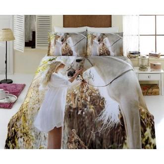 Постельное белье Бамбук 3Д1331-54 евро Virginia Secret