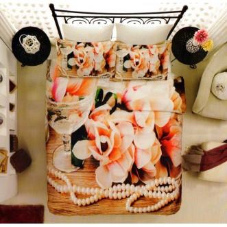 Постельное белье Бамбук 3Д1331-72 евро Virginia Secret