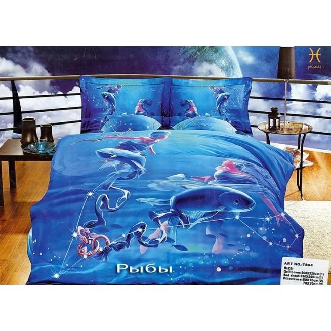 Купить комплект постельного белья Гороскопы Рыбыевро Tango
