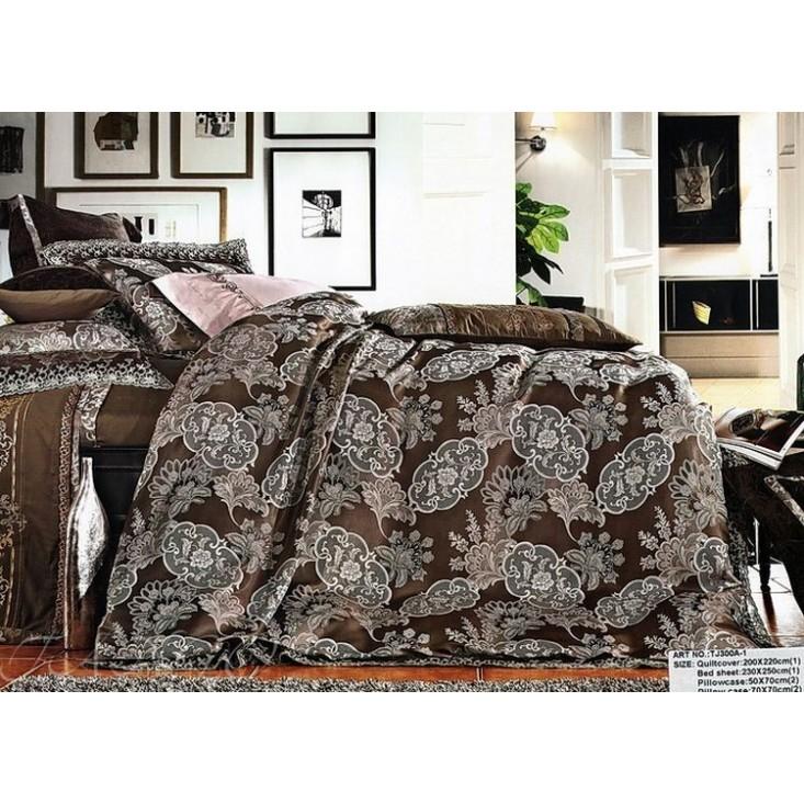 Купить комплект постельного белья Жаккард TJ300-1 евро Tango
