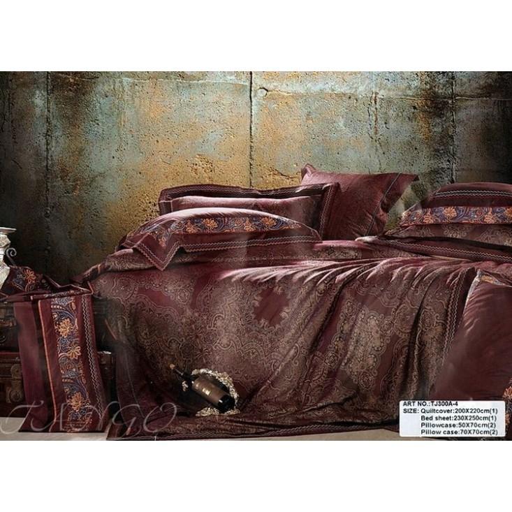 Купить комплект постельного белья Жаккард TJ300-4 евро Tango