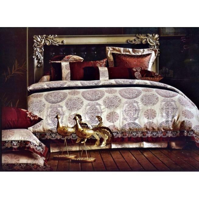 Купить комплект постельного белья Жаккард TJ0400-02 евро Tango