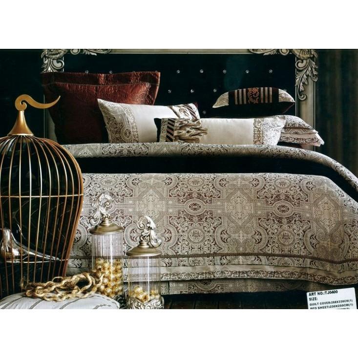 Купить комплект постельного белья Жаккард TJ0400-04 евро Tango