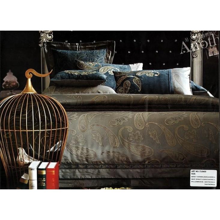 Купить комплект постельного белья Жаккард TJ0400-07 евро Tango