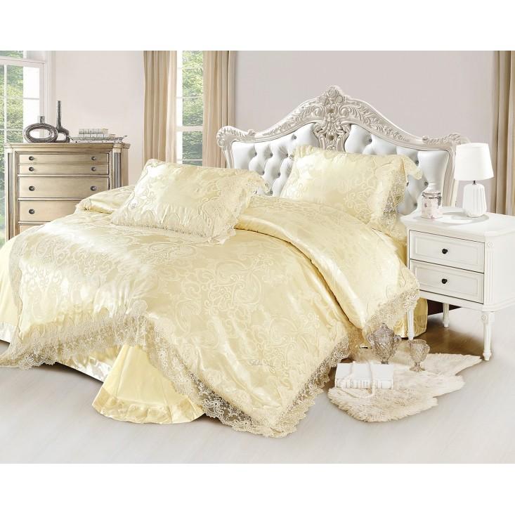 Купить комплект постельного белья Жаккард TJ0600-30 евро Cristelle