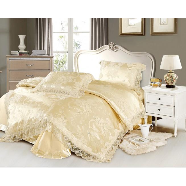 Купить комплект постельного белья Жаккард TJ0600-32 евро Cristelle