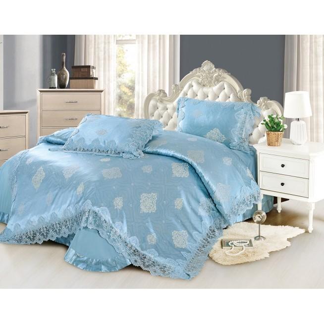 Купить комплект постельного белья Жаккард TJ0600-34 евро Cristelle