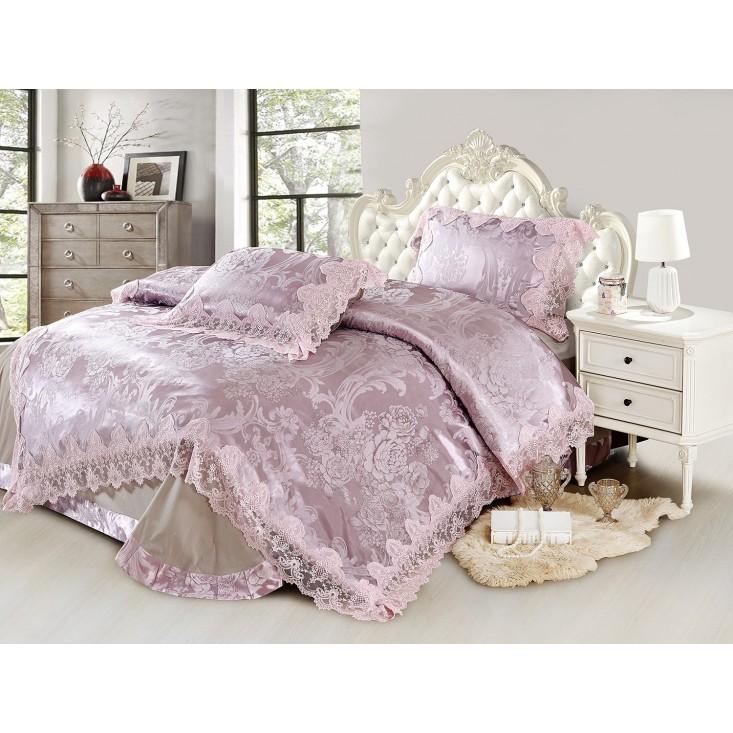 Купить комплект постельного белья Жаккард TJ0600-37 евро Cristelle