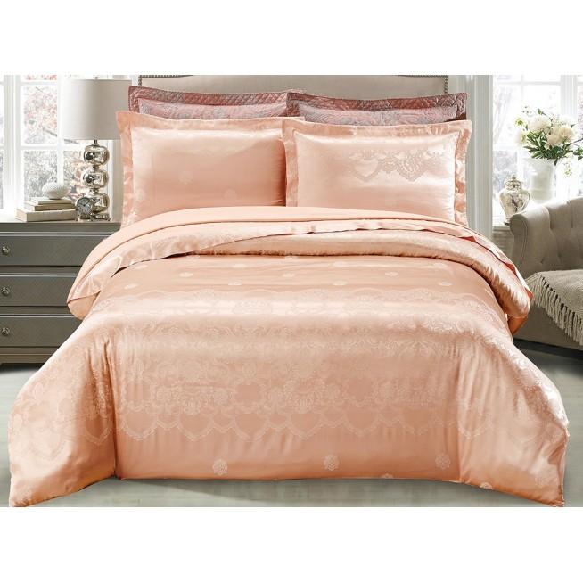 Купить комплект постельного белья Жаккард CJ03-9 евро Cristelle