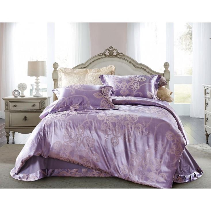 Купить комплект постельного белья Жаккард CJ03-11 евро Cristelle