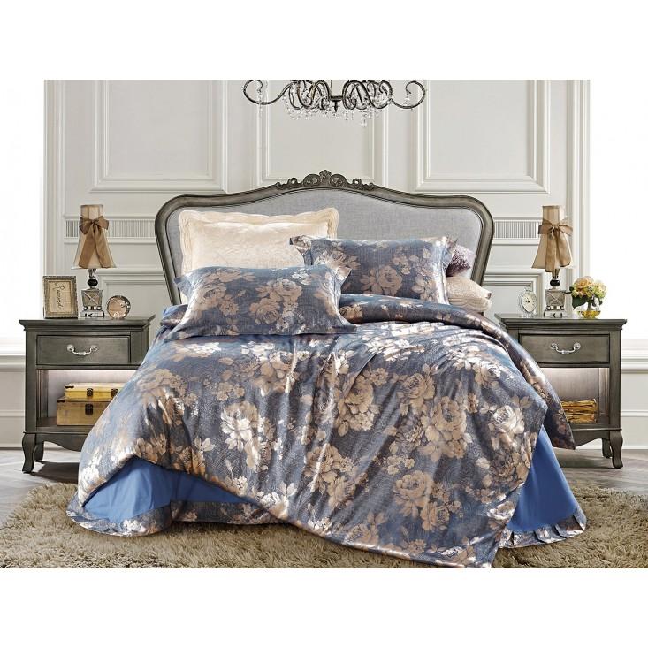 Купить комплект постельного белья Жаккард CJ03-12 евро Cristelle