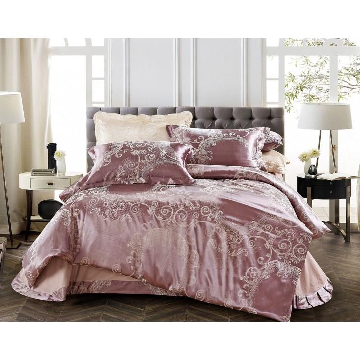 Купить комплект постельного белья Жаккард CJ03-13 евро Cristelle