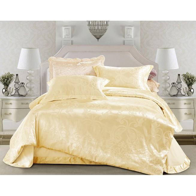 Купить комплект постельного белья Жаккард CJ03-15 евро Cristelle