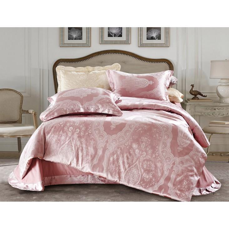 Купить комплект постельного белья Жаккард CJ03-18 евро Cristelle