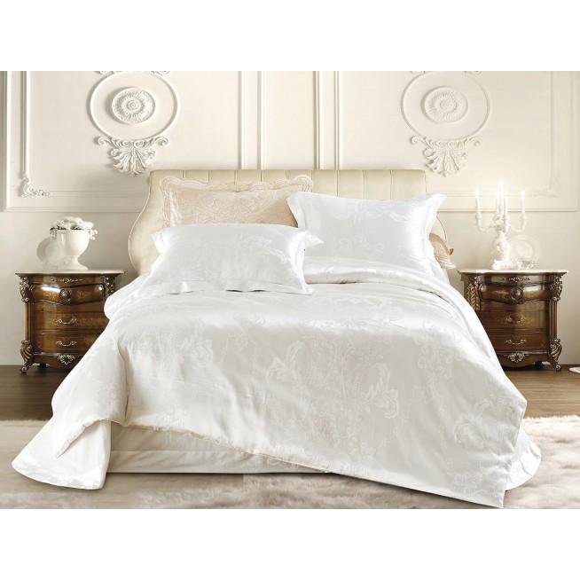 Купить комплект постельного белья Жаккард CJ03-20 евро Cristelle