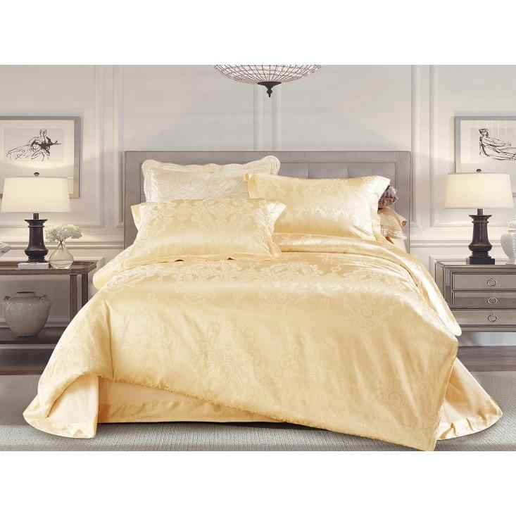 Купить комплект постельного белья Жаккард CJ03-21 евро Cristelle