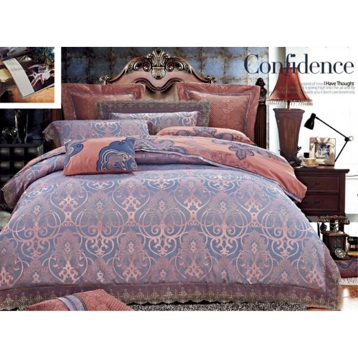 Купить комплект постельного белья Жаккард TJ112-429 семейный «Дуэт» Tango