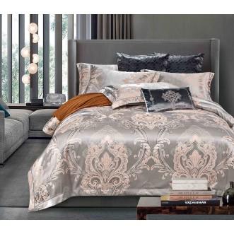 Купить комплект постельного белья Жаккард TJ112-25 семейный «Дуэт» Cristelle
