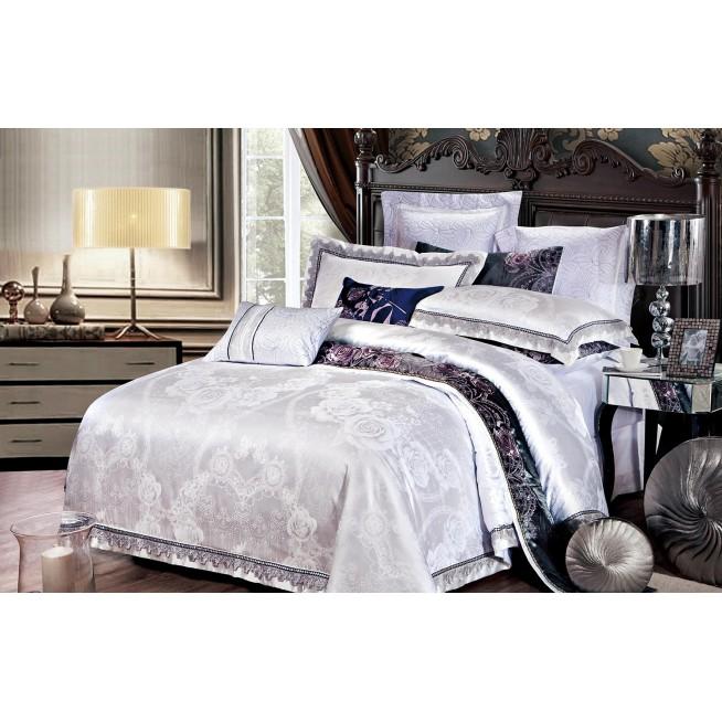 Купить комплект постельного белья Жаккард TJ112-28 семейный «Дуэт» Cristelle