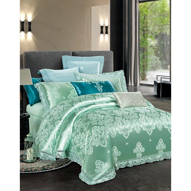 Купить комплект постельного белья Жаккард TJ112-29 семейный «Дуэт» Cristelle