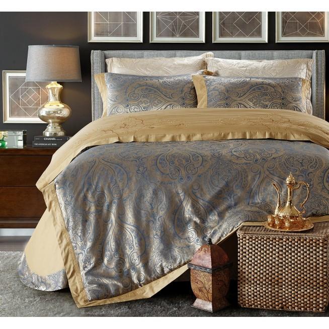 Купить комплект постельного белья Жаккард TJ112-20 семейный «Дуэт» Cristelle