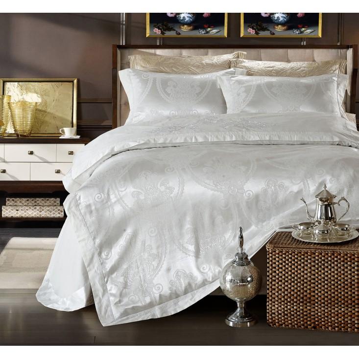 Купить комплект постельного белья Жаккард TJ112-26 семейный «Дуэт» Cristelle