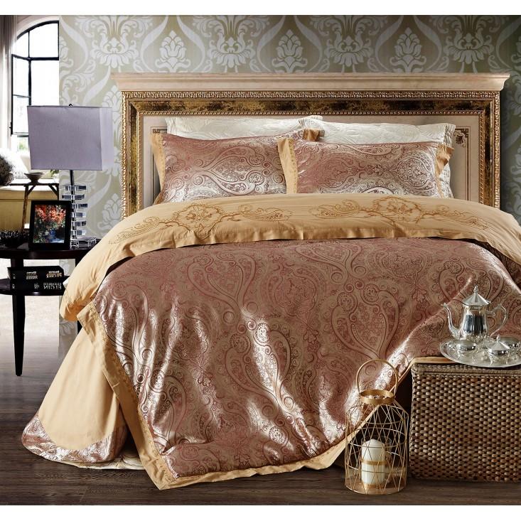 Купить комплект постельного белья Жаккард TJ112-21 семейный «Дуэт» Cristelle