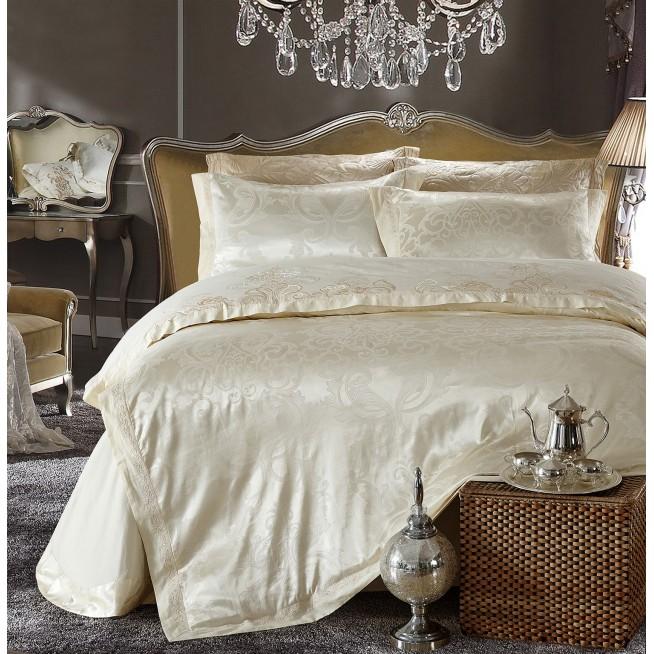 Купить комплект постельного белья Жаккард TJ112-27 семейный «Дуэт» Cristelle