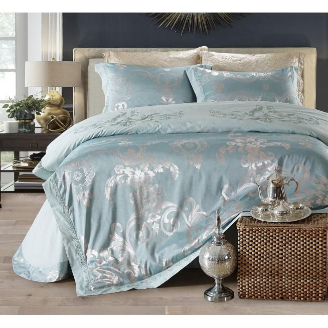 Купить комплект постельного белья Жаккард TJ112-22 семейный «Дуэт» Cristelle