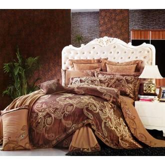 Купить комплект постельного белья Жаккард TJ350-15 семейный «Дуэт» Tango