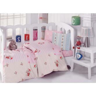 Детское постельное белье 1041-04 с вышивкой в кроватку Cotton Box