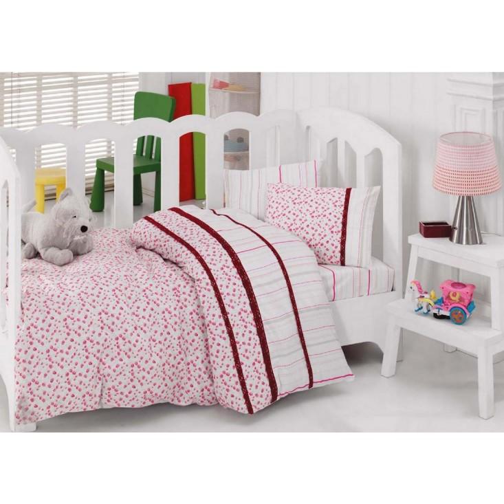 Детское постельное белье 1041-06 с вышивкой в кроватку Cotton Box