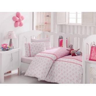 Детское постельное белье 1041-05 с вышивкой в кроватку Cotton Box